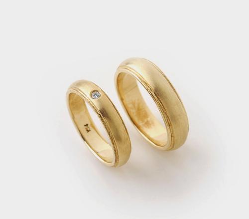 밀그레인 반지 커플링