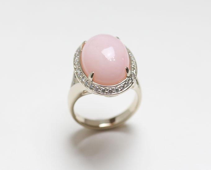 핑크오팔 반지